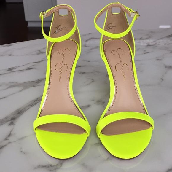 e9e286a61 Jessica Simpson Shoes - Never worn neon yellow sandals